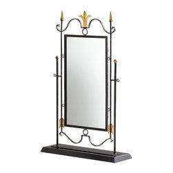 Cyan Design - Cyan Design 05456 Shetland Mirror on Stand - Cyan Design 05456 Shetland Mirror on Stand