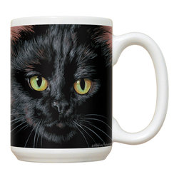 140-Ah Black Cat Mug - 15 oz. Ceramic Mug. Dishwasher and microwave safe It has a large handle that's easy to hold.  Makes a great gift!