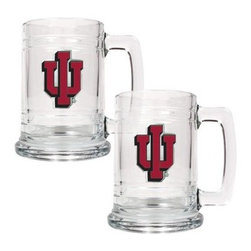 Great American NCAA 15 oz. Glass Tankard Set - About Great American ProductsWith beginnings as a belt buckle maker in Texas, Great American products has become the leader in licensed metal emblems and the products that they adorn. With licenses with every major sports league, Great American products a wide range of unique products like drinkware, coolers, and kitchen accessories for the dedicated fan.