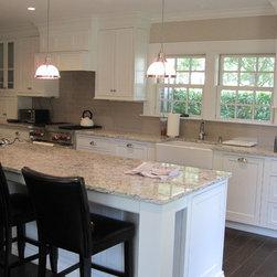 White Beaded Inset Kitchen -