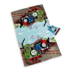 Jay Franco & Sons, Inc. - Thomas the Train Bath Towel and Wash Mitt Set - This bath towel and wash mitt set is a great way to get the kids to want to take a bath. It coordinates perfectly with the Thomas the Train bedding collection.