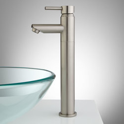 Stanley Single-Hole Vessel Faucet with Pop-Up Drain - This sophisticated vessel filler has a single-lever handle and a modern, horizontal spout. Its contemporary design, clean lines, and premium finish make this the perfect addition to your vessel sink.