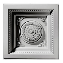 """Ekena Millwork - 24""""W x 24""""H x 2 7/8""""P Royal Ceiling Tile - Ceiling tiles are a unique way to add beauty to your home.  Several of our ceiling tiles are modeled after coffered ceiling designs, which allows you to get that coffered ceiling look without all the miter cuts typically required.  Rich details give deep shadow lines and an ornate look typically only found with wood products."""