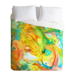 DENY Designs - Rosie Brown Palette Gone Wild Duvet Cover - Turn your basic, boring down comforter into the super stylish focal point of your bedroom. Our Luxe Duvet is made from a heavy-weight luxurious woven polyester with a 50% cotton/50% polyester cream bottom. It also includes a hidden zipper with interior corner ties to secure your comforter. it's comfy, fade-resistant, and custom printed for each and every customer.