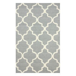 "nuLOOM - Contemporary 7' 6"" x 9' 6"" Grey Hand Tufted Area Rug Trellis VS71 - Made from the finest materials in the world and with the uttermost care, our rugs are a great addition to your home."