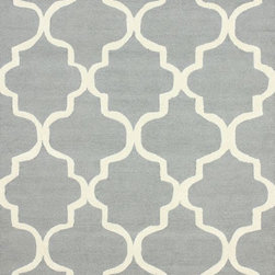 """nuLOOM - Contemporary 7' 6"""" x 9' 6"""" Grey Hand Tufted Area Rug Trellis VS71 - Made from the finest materials in the world and with the uttermost care, our rugs are a great addition to your home."""