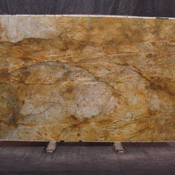 Royal Stone & Tile Slab Yard in Los Angeles - Roma Imperiale extoic granite slab from Brazil at Royal Stone & Tile