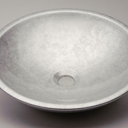 MaestroBath - Counter Top Bathroom Sink in Silver Leaf - This sink is made out of Alumix, an extremely light weight and durable aluminum alloy, and offers a unique yet simple circular design with a thick metallic edge. It can be easily installed on top of your bathroom counter and comes in solid and bi-chromatic colors. ROUND offers a minimalistic and contemporary design for your modern bathroom. Here is more information related to MaestroBath: Services Provided: Luxury Handmade Italian Vessel Sinks, Modern and Contemporary Kitchen and Bath Fixtures .. Areas Served: All United States and International Countries… Business Description: Maestrobath delivers contemporary and modern handmade Italian bathroom sinks and designer faucets to clients with taste of luxury. It carries a wide selection of beautiful and unique Travertine, Crystal and Glass vessel sinks in variety of colors and styles. Maestrobath services homeowners and designers Globally. Furthermore, it has dealer partners across United States and international countries.