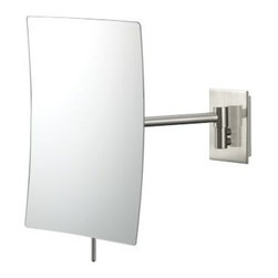 Aptations Nickel Minimalist Modern Wall Mount Mirror -