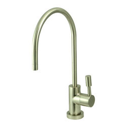 Kingston Brass - Concord Water Filtration Faucet, Satin Nickel - Inspired by its contemporary look, the Concord collection of water filtration faucet is coated with our finest solid brass material sleek and simple in its structure.