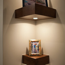 modern wall shelves by HighCraft Builders