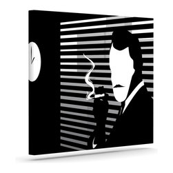 """Kess InHouse - Kevin Manley """"Vincent"""" Black White Wrapped Art Canvas (8"""" x 10"""") - Bring your outdoor patio to life with this artistic outdoor canvas wrap featuring gorgeous artwork by KESS InHouse. These canvases are not only easy to hang and remove but also are the perfect addition to your patio collection. These canvases are stretched around a wooden frame and are built to withstand the elements and still look artistically fabulous. Decorating your patio and walls with these prints will add the splash of art and color that is needed to bring your patio collection together! With so many size options and artwork to choose from, there is no way to go wrong with these KESS Canvas Wraps!"""