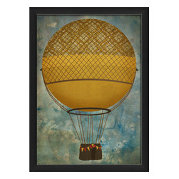 The Artwork Factory - 'Hot Air Balloon 2' Print - Bring that up, up and away feeling to your favorite setting. This museum quality print on high resolution, acid-free paper makes a spirit-lifting artistic statement.