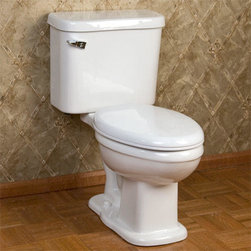 Milano Two-Piece Toilet - The Milano Two-Piece Toilet is perfect for a petite sized bathroom. The Milano features a small tank and narrow toilet bowl, ideal for a half bath.