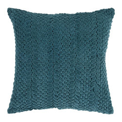 "Surya - Surya 22 x 22 Decorative Pillow, Teal Green (P0279-2222P) - Surya P0279-2222P 22"" x 22"" Decorative Pillow, Teal Green"