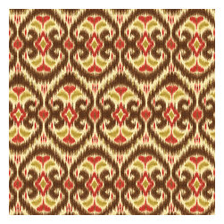 Brown & Red Ikat Cotton Fabric - Bold brown, red & curry yellow eclectic ikat on textured cream cotton. The spicy, bustling bazaar brought home to you!Recover your chair. Upholster a wall. Create a framed piece of art. Sew your own home accent. Whatever your decorating project, Loom's gorgeous, designer fabrics by the yard are up to the challenge!