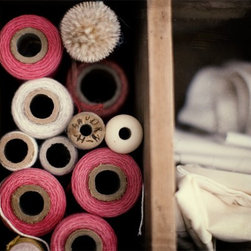 Tools Of The Trade Fine Art Print By Jane Heller - I'm loving the images of threads and bobbins taken by this Canadian photographer. They would look perfect in a craft or sewing room.