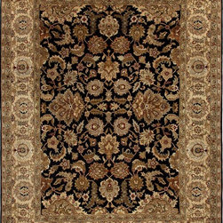 Jaipur Rugs - Hand-Knotted Oriental Pattern Wool Black/Tan Area  Rug, Black/Tan, 10x14, Taj - Jaipur 's most popular collection, Atlantis, merges traditional patterns with sophisticated and distinctive color stories rooted in blue, brown, ebony, gold, and red. Hand-knotted by master artisans, this stunning range boasts world-class hand-spun wool and an exceptional weave. Atlantis melds the classic beauty of hand-knotting with the palettes coveted by today's new traditionalist.