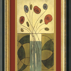 Amanti Art - Sur la Table II Framed Print by Mark Cabral - Terra-cotta, green and gold come together in this attractive framed print by Mark Cabral. The antique gold lining of the frame perfectly accents the earthen hues.