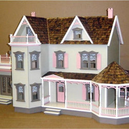 Real Good Toys - Real Good Toys Harborside Mansion Dollhouse Kit - 1 Inch Scale - 1769-MM - Shop for Dollhouses and Dollhouse Furnishings from Hayneedle.com! Rouse your creative muse with the Real Good Toys Harborside Mansion Dollhouse Kit - 1 Inch Scale. This model adds a roomy conservatory that budding artists poets and painters will appreciate. With 11 to 13 generous rooms and an impressive 9.438-inch floor-to-ceiling height it's the perfect gathering place for your figurines. This spacious Victorian house includes a 19-inch wraparound gazebo porch. Durable gingerbread trim measuring 0.125 inches thick further enhances this old-fashioned unfurnished structure. It will take approximately 30 to 40 hours to assemble and finish. This traditional 3-story house is available in two different durable construction options. Choose between milled plywood and MDF wall finishes. The decorative porch and other exceptional details reflect the uncompromising craftsmanship that went into the creation of this model adding fanciful form to an already handsome design. It features pre-assembled windows and doors moveable room dividers wooden shingles and sturdy 0.375-inch exterior walls and grooved sidewalls. Recommended supplies include a hammer glue masking tape sandpaper paint brushes ruler and brads. This exquisite kit is suitable for use by collectors. As it includes small pieces it's not recommended for children under the age of 3. About Real Good ToysBased in Barre Vt. Real Good Toys has been hand-crafting miniature homes since 1973. By designing and engineering the world's best and easiest to assemble miniature homes Real Good Toys makes dreams come true. Their commitment to exceptional detail the highest level of quality and ease of assembly make them one of the most recommended names in dollhouses. Real Good dollhouses make priceless gifts to pass on to your children and your children's children for years to come.