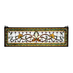 "Meyda Tiffany - Meyda Tiffany 119444 33"" W X 10"" H Fairytale Transom Stained Glass Window - Brilliant and superior, the 33"" Width X 10"" Height Fairytale Transom Stained Glass Window by Meyda Tiffany is a fantastic choice to augment your design. Meyda Tiffany is one of the few companies that still employs artisans capable of creating this appealing tiffany window. Features:"