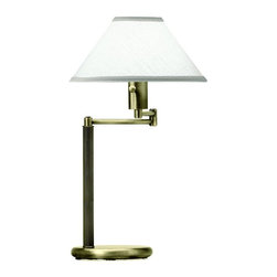 House Of Troy - House Of Troy Home/Office Collection Transitional Swing Arm Table Lamp X-17-634D - Swing arm desk lamp with hardback shade attaches with acrylic diffuser. 3 way 100 watt socket, switch on socket. Supplied with 9' brown cord.