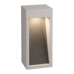 Forecast - Starbeam LED Outdor Wall - Starbeam LED outdoor wall lantern in graphite or bronze finish with natural stone insert available in a 12 and 18 inch version.  Small size is 5 inches wide x 12.5 inches high x 4 inches deep.  Large version is 5 inches wide x 18 inches high x 4 inches deep.   Both sizes include one 15W LED, 1100 lumens initial, 2700K, 80 CRI, 120V electronic.  Wet location rated.