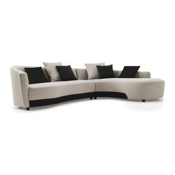 Armen Living - Modern Sectional in Two-Tone Fabric, Right-Facing in Silver - Suave lines and a sophisticated but playful mood combine to give the Oasis Sectional a classically mod Hollywood aesthetic for your loft, town home, or condo. Celebrate any room you decorate - and your personal sense of style - with this fun and fashionable sectional.