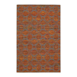 """Nourison - Nourison Spectrum SPE03 2'6"""" x 4' Flame Grey Area Rug 21581 - A traditional smoke-colored ancestral pattern brings an aura of intimacy to any area it inhabits thanks to a background of flickering flame, amber, crimson and sunshine. Meticulously hand made from a sublime silk blend and infused with a lovely luminosity, this enthralling hand-woven rug inspires from every angle."""