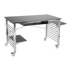 Euro Style - Euro Style Brian Desk On Casters X-20272 - Euro Style Brian Desk On Casters X-20272