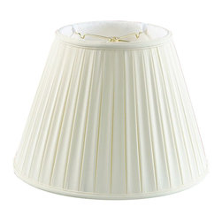 Home Concept - Empire Box Pleat Lampshade - Eggshell - Home Concept Signature Shades feature the finest premium shantung fabric.