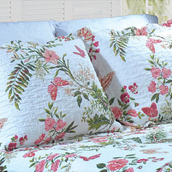 None - Secret Garden Quilted King-size Pillow Shams (Set of 2) - Bring a garden touch to your bedroom with the addition of these king-size quilted pillow shams. This pair of shams is crafted from cool-to-the-touch 100 percent cotton and has a soft,quilted texture with an eye-catching,all-over floral pattern.