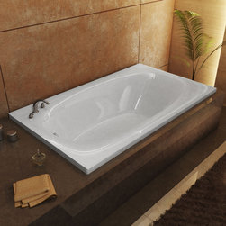 Venzi - Venzi Talia 42 x 66 Rectangular Soaking Bathtub - The Talia series features a blend of oval and rectangular construction and molded armrests. Soft surround curves of the interior provide soothing comfort. The narrow width of the Talia bathtubs' edge adds additional space.