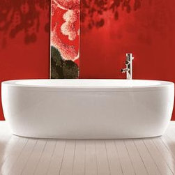 Luxury Modern Bathroom Design - Laufen 241970 - Alessi One Collection Bathtub, Free-Standing With Panel, Sanitary Acrylic, Also Available With Whirlsystem