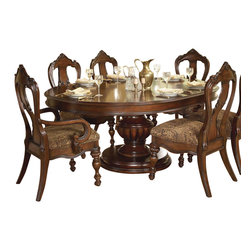 Homelegance - Homelegance Prenzo 10-Piece Pedestal Dining Room Set in Brown - European elegance at its best. Flowing lines, detailed carvings, beautiful veneer treatments and grand scale are some of the many design elements of our Prenzo collection .