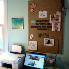 coffee sack inspiration/cork board on Flickr - Photo Sharing!