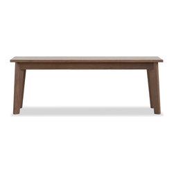 Hedge House Furniture - Ventura Bench - Solid walnut Ventura bench.