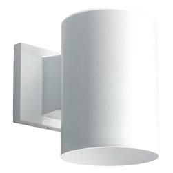 Progress Lighting - Progress Lighting P5674-30 Cylinder 1 Light Outdoor Wall Light In White - Progress Lighting P5674-30 Cylinder 1 Light Outdoor Wall Light In White