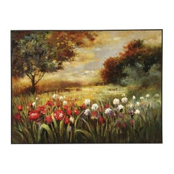 Bassett Mirror - Spring Fields Canvas Art - Spring Fields Canvas Art by Bassett Mirror