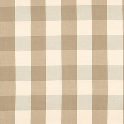 "Ballard Designs - Buffalo Check Taupe Fabric by the Yard - Content: 100% cotton. Repeat: Non-railroaded fabric with 8"" repeat. Care: Dry clean. Width: 54"" wide. Cream, gray and taupe check woven in nicely weighted cotton twill. .  .  .  . Because fabrics are available in whole-yard increments only, please round your yardage up to the next whole number if your project calls for fractions of a yard. To order fabric for Ballard Customer's-Own-Material (COM) items, please refer to the order instructions provided for each product.Ballard offers free fabric swatches: $5.95 Shipping and Processing, ten swatch maximum. Sorry, cut fabric is non-returnable."