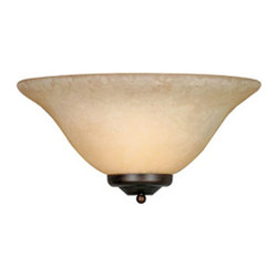 Golden Lighting - Multifamily 1-Light Wall Sconce - This stylish wall sconce allows you to enjoy the warm illumination emitted from its frosted shade. Its delicate silhouette brings to mind a gorgeous aged bowl.