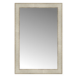 """Posters 2 Prints, LLC - 17"""" x 25"""" Libretto Antique Silver Custom Framed Mirror - 17"""" x 25"""" Custom Framed Mirror made by Posters 2 Prints. Standard glass with unrivaled selection of crafted mirror frames.  Protected with category II safety backing to keep glass fragments together should the mirror be accidentally broken.  Safe arrival guaranteed.  Made in the United States of America"""