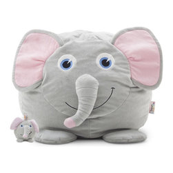 Comfort Research - Comfort Research Bean Bagimals with Lil Buddy, Emerson the Elephant - Is your little one a budding animal lover? Or maybe they're just the proud owner of a soft spot for all things cute? Our Bagimal Collection is an adorable set of huggable, lovable, and FUNctional animals that are perfect for playtime, nighttime stories or just cuddling up. Matching Lil Buddy pal to play with included. Made with soft, kid-friendly polyester, short fur fabric. Filled with UltimaX Beans that conform to you.  Double stitched and double zippers for added strength and safety. Spot clean.