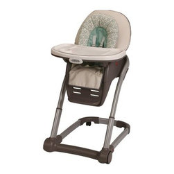 Graco Blossom Highchair - When you purchase the Graco Blossom Highchair you'll never have to buy another mealtime chair for your child because this one is grow with him or her! It easily adjusts to their feeding needs and several modes will accommodate more than one child at once. It transforms seamlessly from an extremely functional highchair to an infant feeding booster a toddler booster and finally a youth chair. Should your family suddenly grow it can even accommodate a baby and a toddler at the table all at once. The 6-position height adjustment assures a front row seat for baby at any family table. And the 3-position removable footrest and 3-position one-hand reclining seat will ensure your growing child stays comfortable at mealtime.About GracoWhen Russell Gray and Robert Cone joined forces in 1942, baby products were not their focus. The pair originally formed Graco Metal Products in Philadelphia, Penn. The firm crafted machine and car parts for local manufacturers for 11 years. Gray left in 1953, leaving Cone as sole owner, and Cone got the idea to manufacture baby products from a Graco employee, David Saint, father of 9. Inspired by the idea of Mrs. Saint soothing her babies on the backyard glider, the Graco Swyngomatic was born. The Swyngomatic sold millions, catapulting Graco to become a leader in manufacturing juvenile products in the process. Since then, Graco has set the industry standard with products like the Pack N' Play and the Travel System. Graco is one of the world's best known and most trusted juvenile products companies. Product safety, quality, reliability, and convenience are their main sources of pride, and are recognized by parents and parenting authorities alike.