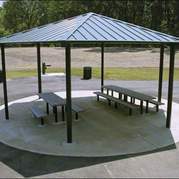 Fifthroom - 25' x 25' All Steel Hexagon Orchard Pavilion -