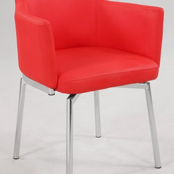 Chintaly Imports Dusty Club-Style Swivel Armchair - This chair has a retro '60s style with a modern twist in the color. It's beautiful!