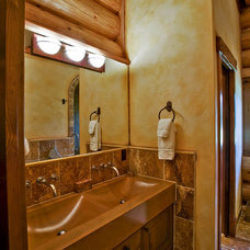Rustic Bathroom by Debbie Evans Interior Design