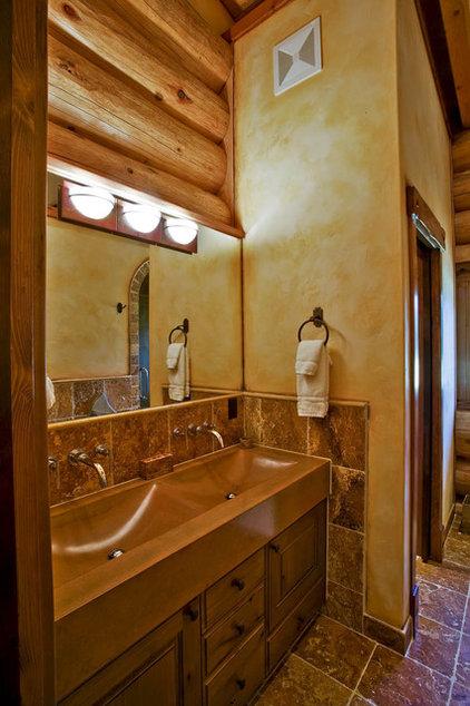 Rustic Bathroom by Debbie Evans Interior Design