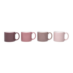 Jansen+co - Jansen+co My Mug Medium Gift Set - Set of 4, Orchid - Known for its use of bold color combinations, Jansen+co's tabletop products combine high quality industrial production with a careful hand finish. The medium gift set comes in tonal gradients that add variety and assortment instead of being all the same.