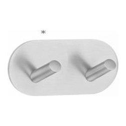 Smedbo - Smedbo Design Double Hook Self Adhesive Stainless Steel - Smedbo Design Double Hook Self Adhesive Stainless Steel